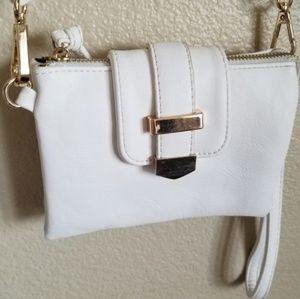 charming charlie small white crossbody bag